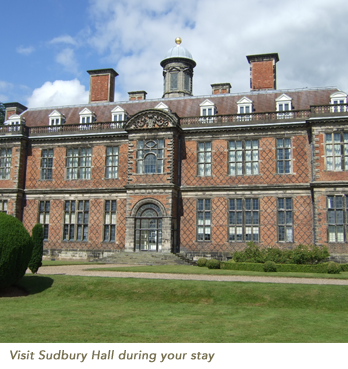 Visit Sudbury Hall during your stay