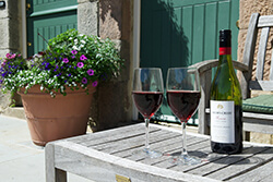 Enjoy drinks in the courtyard