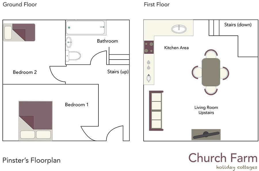 Pinster Cottage Floorplan