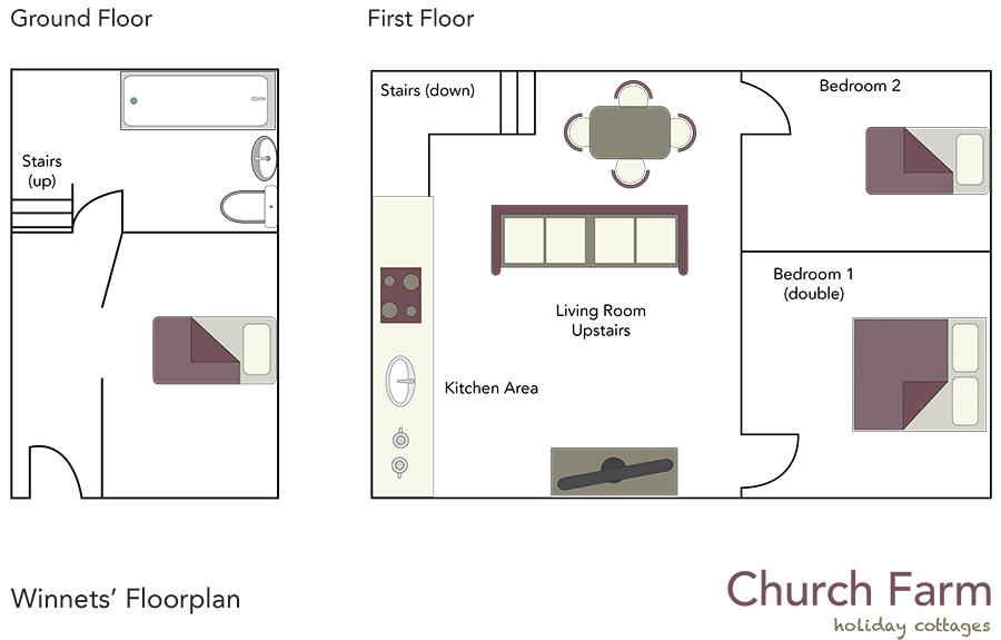Winnets Cottage Floorplan